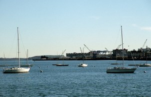 Северная часть Бостона и Waterfront.