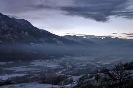 Огни долины Аоста в новогодний вечер.