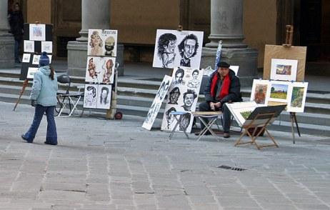 Уличный художник. Флоренция.