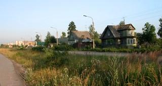 Дорога от универа в 23-й квартал через деревню Темяшкино. Петродворец.