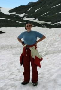 "Верхняя ""снежная"" часть тропы Harding Ice field trail."