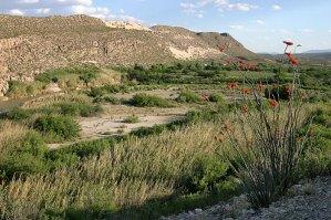 Каньон Boquillas. Горы принадлежат уже Мексике.