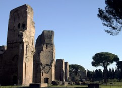 Руины бань Каракала. (Baths of Caracalla).