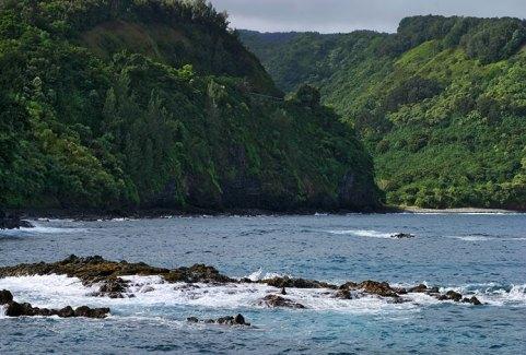 Лавовые островки в заливе Хономану.