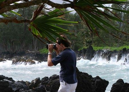Сильный ветер на полуострове Ke'anae.