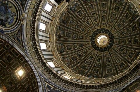 Купол собора Св. Петра изнутри.