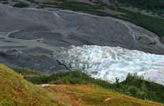 Конечная часть ледника Exit Glacier.