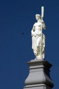Девушка с веслом. Петропавловская крепость.