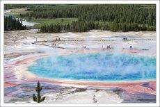 Большой Призматический источник является самым большим на территории США.