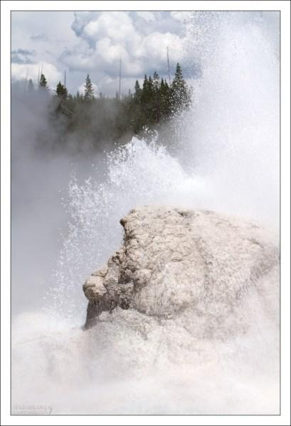 """Большое извержение в """"Гроте""""."""