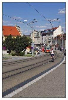 Трамвайная система в Братиславе функционирует с 1895 года.