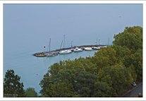 Небольшая гавань у северного побережья Балатона.