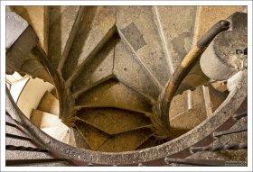 Двойная винтовая лестница Doppelwendeltreppe в Замке Граца. Автор неизвестен.