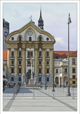 Урсулинская церковь Святой Троицы - один из символов словенской столицы.