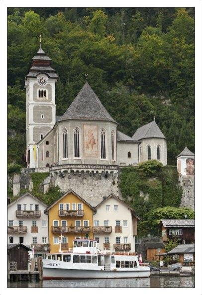 Католическая церковь Халльштатта (Katholische Pfarrkirche Hallstatt), 12-й век.