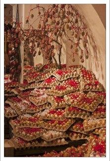 """Яйца с орнаментом в магазине """"Christmas in Salzburg""""."""