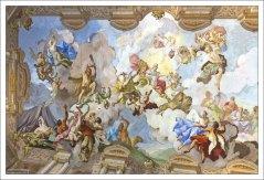 Фреска на потолке Мраморного зал (Пауль Трогер, 1731 год).
