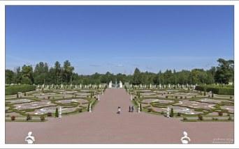 Центральная аллея Нижнего сада в Ораниенбауме.