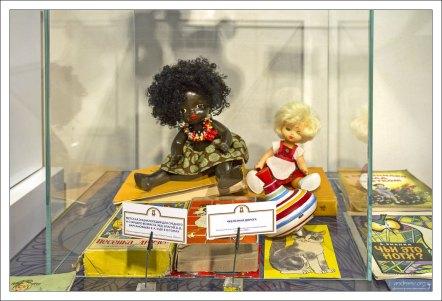 Редкая кукла-негритянка середины 70-х годов.