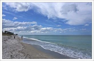 Мексиканский залив у барьерных флоридских островов.