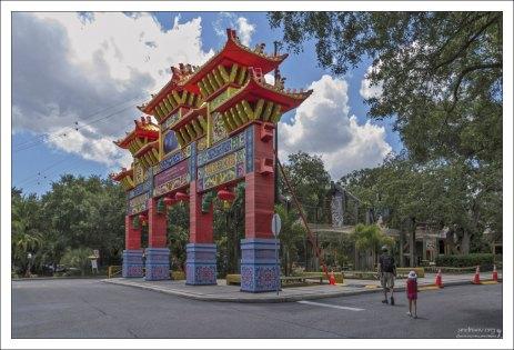 Китайский фестиваль Zoominations в зоопарке Lowry в Тампе.