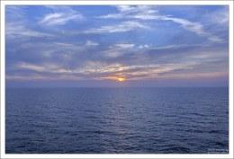 Закат в Мексиканском заливе.