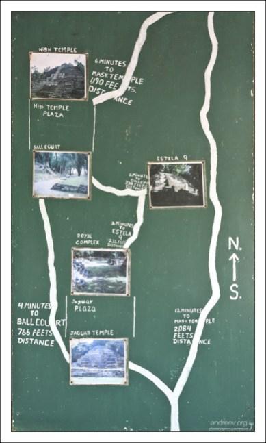 Схема археологических раскопок.