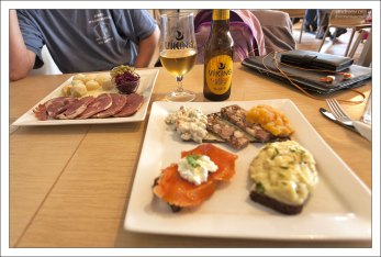 Набор исландских закусок.