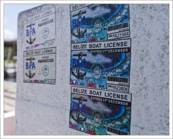 Лицензия на управление моторной лодкой.