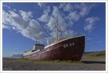 Китобойное судно Garðar BA 64, выброшенное на берег в 1984 году.