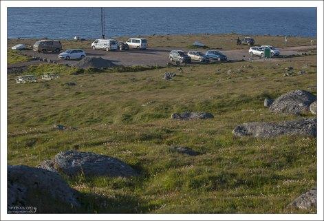 Парковка на самой западной точке Европы.