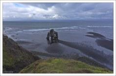 Хвитсеркюр - базальтовая скала на восточном берегу полуострова Ватнснес.