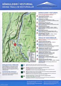 Карта долины Vesturdalur.