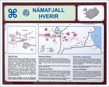 План геотермальной зоны Hverir.