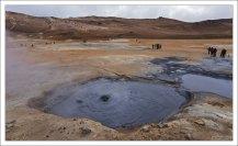 Горячие источники в геотермальной зоне Хверир.
