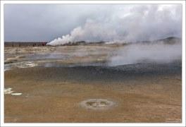 Бурение в здешних местах обнаружило магму на глубине всего 2 км.