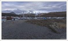 Парковка перед купальней Myvatn.