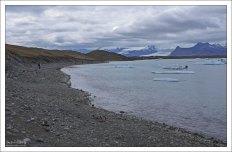 Флотилия айсбергов приближается к берегу.