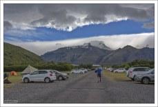 Огромный кемпинг Скафтафедль на 400 палаточных мест.