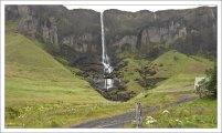 Водопад Foss á Síðu, 82 метра высотой.