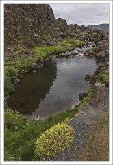 Þingvellir Drekkingarhylur - пруд для экзекуции путем утопления.