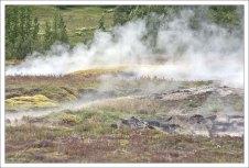В долине Хёйкадалюр находится множество небольших горячих источников и фумарол.