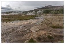Площадь долины - около 3 кв. км.