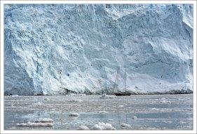 Фронтальная часть ледника Эки.