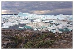 Результат работы ледника Якобсха́вн (гренл. Sermeq Kujalleq).