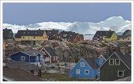 Вид на айсберг из окна собственного дома - обычное явление для жителя Илулиссата.