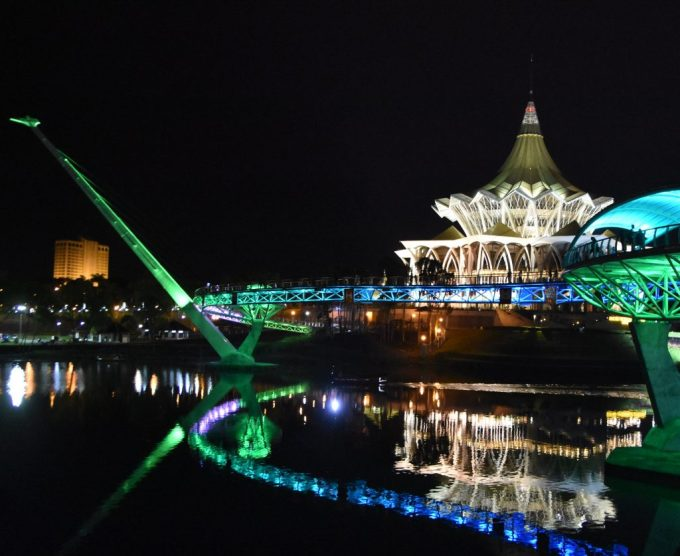 Kuching riverfront