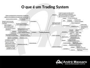 Diagrama em formato de mapa mental, mostrando os principais pontos de um trading system