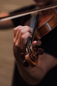 Violino sendo tocado