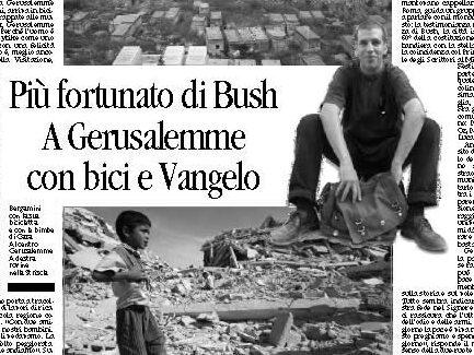 """""""A Gerusalemme il Vangelo pedala"""""""